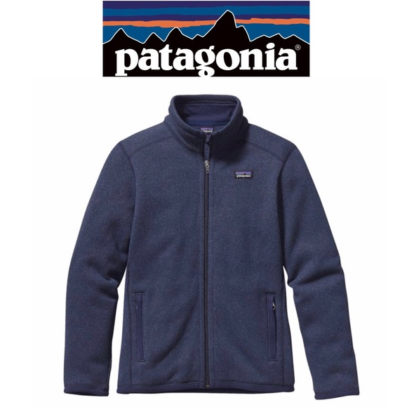 59b932e67d73 Patagonia Boys Better Sweater Fleece Jacket Navy. M 5c68f756c9bf506866806fba